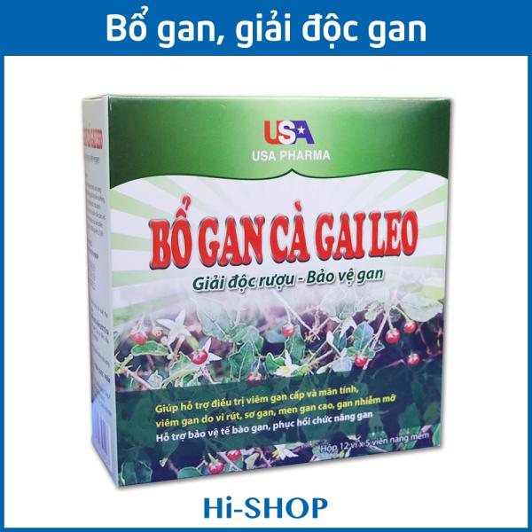 Bổ Gan Cà Gai Leo USA Pharma mát gan, giải độc gan, hạ men gan - Hộp 60 viên dùng cho người từ 6 tuổi