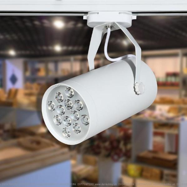 Bộ 20 đèn led rọi thanh ray 12w  sáng trắng và 10 đèn rọi 7w sáng vàng