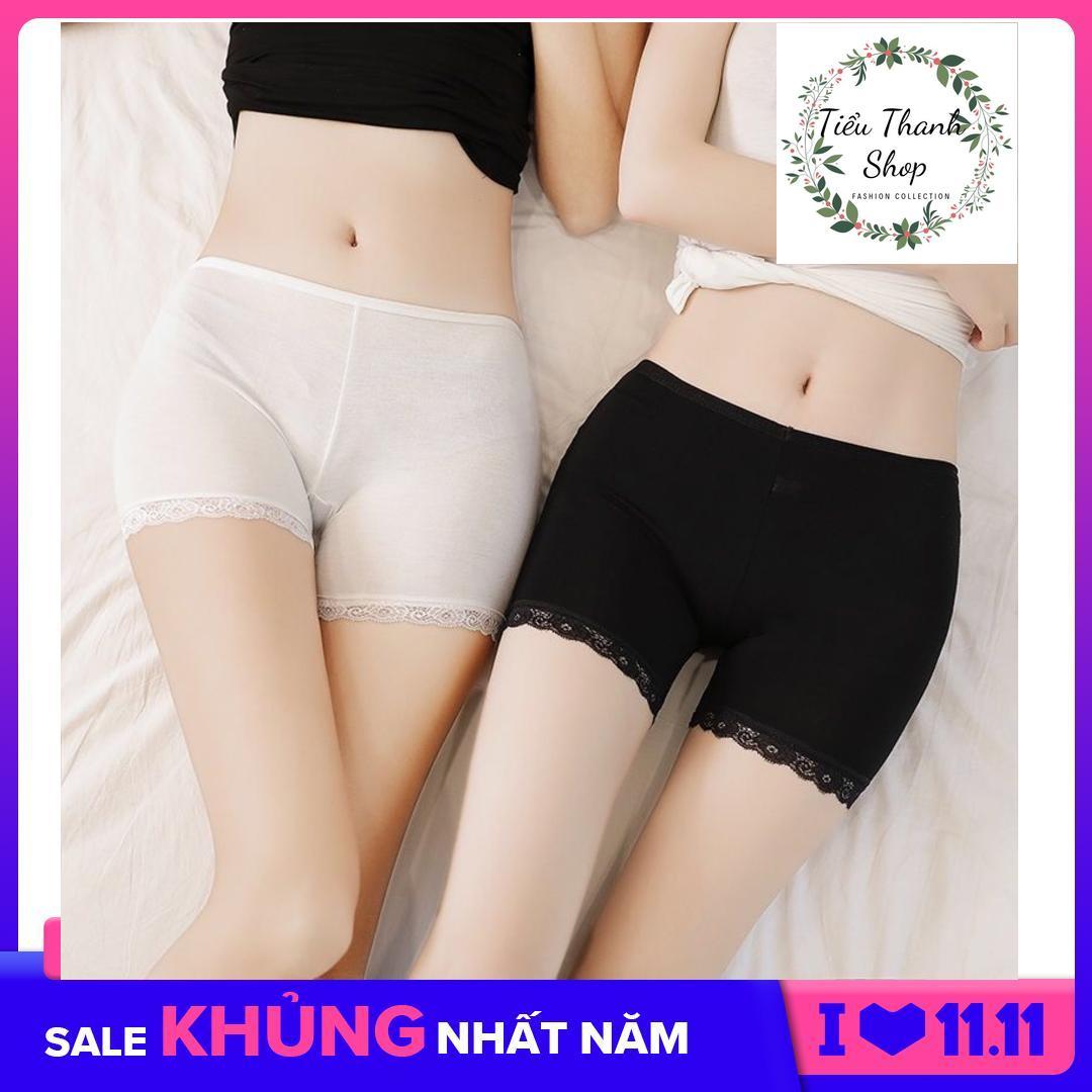 Combo 02 Quần Lót Nữ - Quần Đùi Mặc Váy Cotton Phối Ren Tiểu Thanh Shop Khuyến Mại Hot