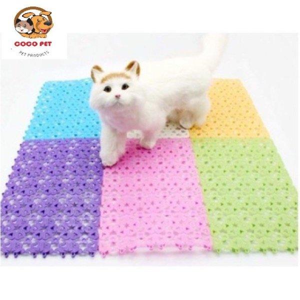 Tấm Lót Sàn Chuồng Chó Mèo Bằng Nhựa Dẻo PVC Nhiều Màu ( 30x20cm ) Chống Lọt Chân