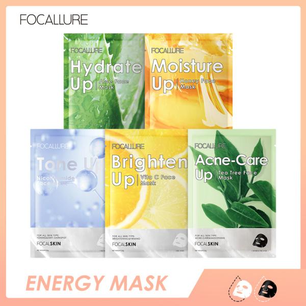 FOCALLURE Mặt nạ dưỡng ẩm chăm sóc da tự nhiên Essence Moisturizing Whitening 1pc 25g cao cấp