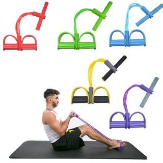 Dây kéo đàn hồi 4 ống cao su tập thể dục - tập gym tại nhà - thiết bị tập thể dục dây kéo - tập thể hình - tập toàn thân nâng cao sức khỏe - 4 ống cao su tự nhiên bàn đạp chân dây kéo đàn hồi có tay cầm 8