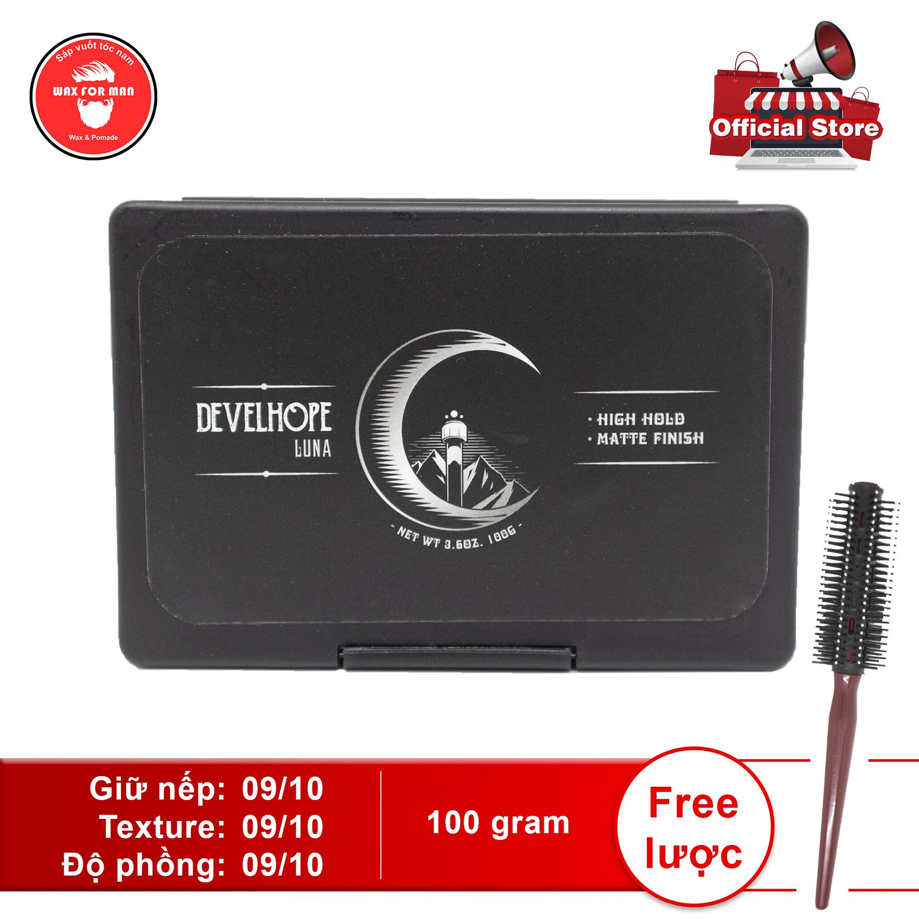 [Tặng lược] Sáp vuốt tóc Develhope Luna version 3 100 gram
