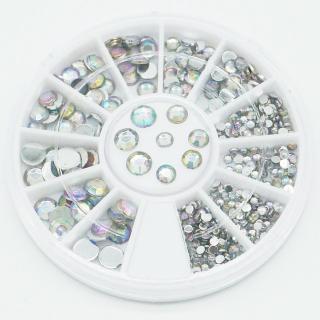 Hạt đính móng tay nhiều kích cỡ , hộp đá đính móng , hộp đá trang trí móng tay móng chân siêu sang chảnh có thể dùng trang trí nhà, vỏ điện thoại, kính, làm thiệp thumbnail
