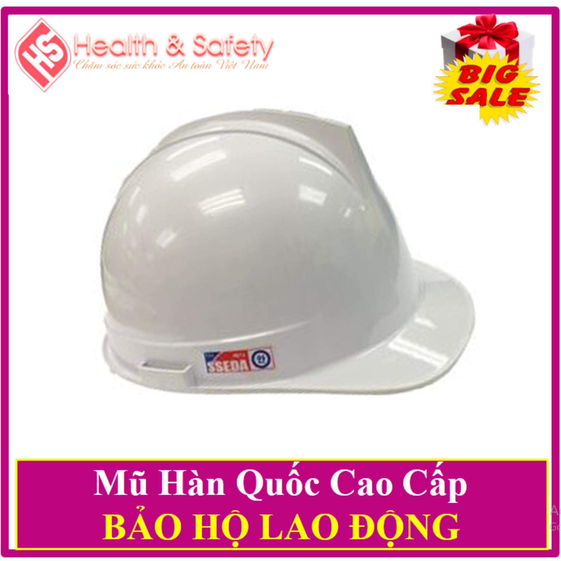 Mũ Bảo Hộ Hàn Quốc SSEDA- Tặng 01 Đôi Găng Tay Len bảo Hộ lao Động