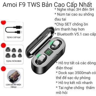 ( Hot ) Tai Nghe Bluetooth Không Dây 5.0 Amoi F9 PIN Trâu Sạc Nhanh,Chống Nước -Tai Nghe Kiêm Sạc Dự Phòng 3500 mAh - Với Chất Âm Thanh HiFi TWS True Wireless Hifi Siêu Bass - Micro HD Chống Ồn - Tai Nghe Thích Hợp Với Các HDH Androi, IOS, ... thumbnail