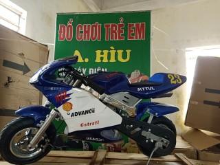 Xe moto mini 50cc - xe ruồi - xe tam mao -bản có phuộc + có đèn CÓ ĐỀ mẫu mới 2 thì pô kiêu như xipo -tặng 1 chai nhớt thumbnail