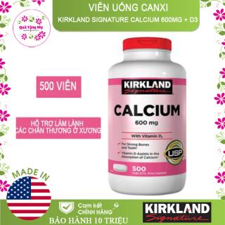 Viên uống Canxi Kirkland Calcium 600mg + D3 hộp 500 viên của Mỹ thumbnail