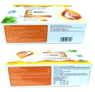 Viên uống đẹp da Vitamin E 40.0 IU - Nhập Khẩu Hàn Quốc- Omega 3 và tinh dầu lô hội làm đẹp da, chống lão hóa, ngừa nếp nhăn - Hộp 30 viên dùng 1 tháng 5