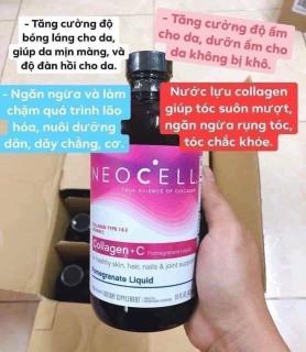 [Chuẩn M.ỹ] Neocell Collagen + C - Collagen Lựu nước chiết Xuất Từ Quả Lựu. 473ml thumbnail