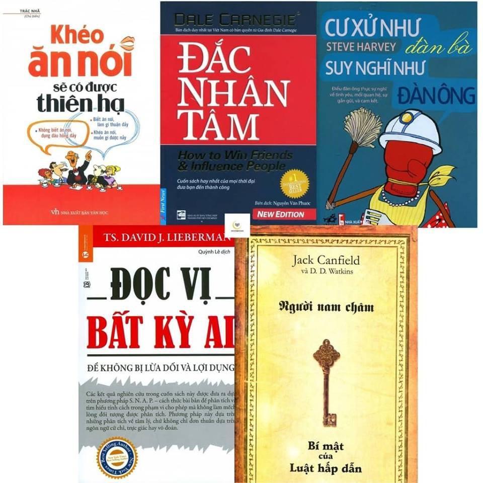 Mua Combo 5 Sách Khéo Ăn Nói, Đắc Nhân Tâm, Cư Xử Như Đàn Bà, Đọc Vị Bất Kỳ Ai, Người Nam Châm