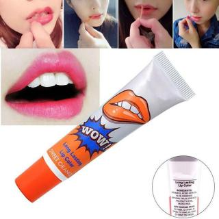 Son săm Romantic Bear WoW long lasting lip color 15g (Siêu lì 48h - Màu Sweet Orange - Nội địa Korea - Hàn Quốc ) thumbnail