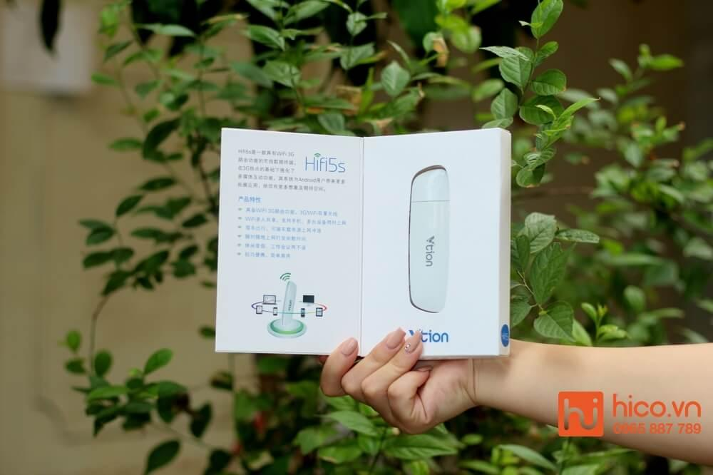 USB PHÁT WIFI 3G VTION VT5S TỐC ĐỘ CAO 7,2MB , THIẾT KẾ NHỎ GỌN , KẾT NỐI ĐA THIẾT BỊ