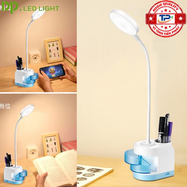Đèn LED Để Bàn Đa Năng Có Sạc Tích Điện DP-6056 - 3 chế độ sáng, bảo vệ mắt, nút cảm ứng, tiện dụng