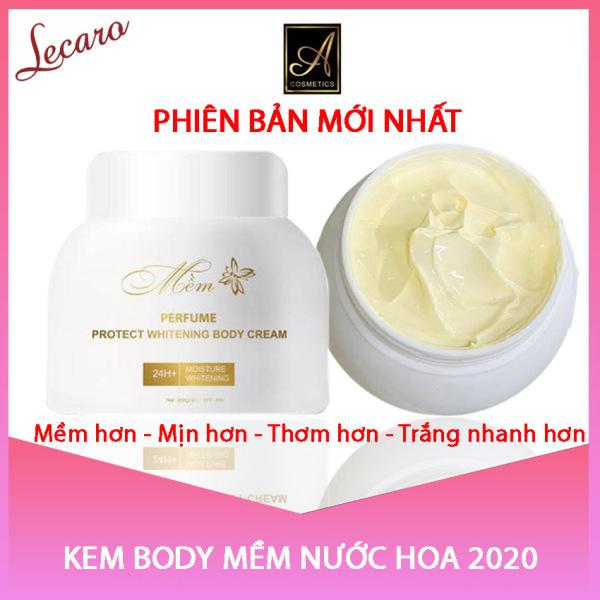 Kem Body Mềm Nước Hoa 2020 Acosmetics Mẫu Mới Nhất, Kem dưỡng Trắng Da Toàn Thân, Dưỡng Ầm, Chống Nắng,Chống Lão Hoá, Chăm sóc da, Phục hồi, Tái Tạo Da, Giúp Da Trắng Mịn, Trẻ Trung, Perfume Protect Whitening Body Cream LECARO 250Gr