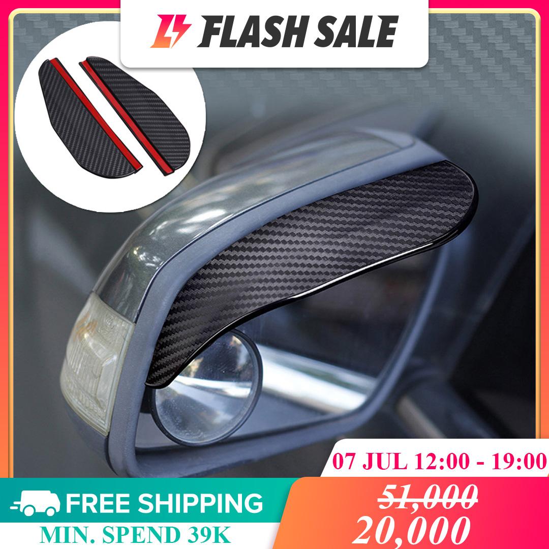 Gracekarin [] 02 Tấm chắn mưa gương chiếu hậu xe ô tô bằng PVC mềm bề mặt sợi carbon kích thước 85x60mm làm giảm bụi bám vào gương giá tốt - INTL
