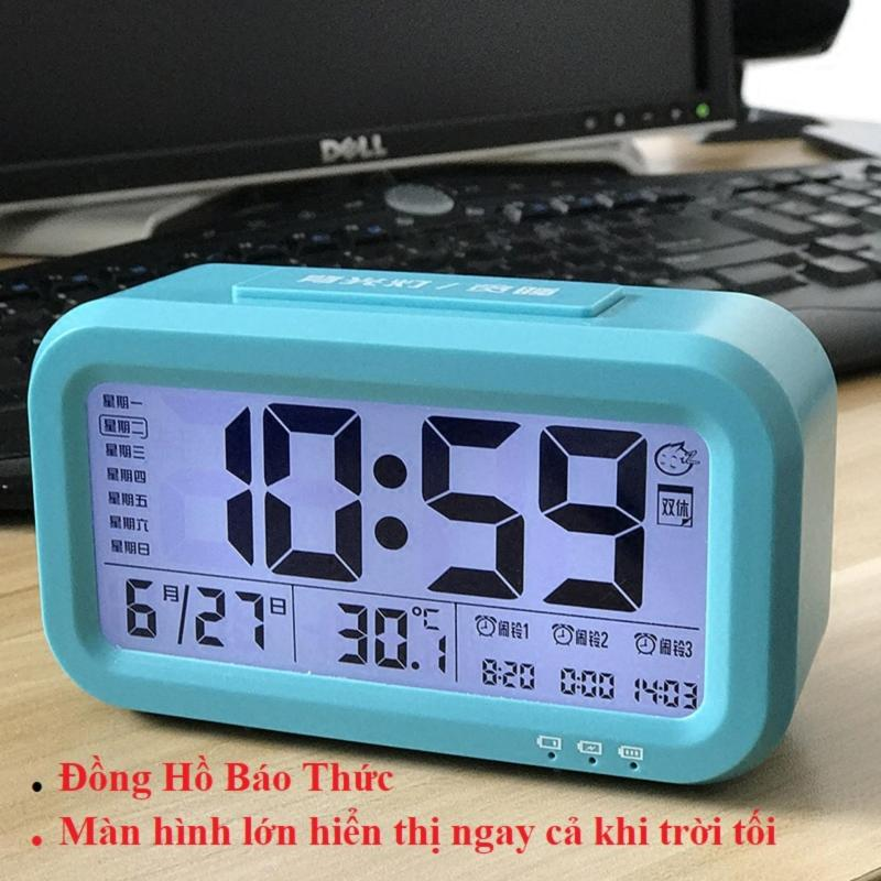 Đồng Hồ Báo Thức Chuông To, Đồng Hồ LCD Led Để Bàn HD51 Thông minh Tích hợp 4 chức năng , đồng hồ, đồng hồ báo thức, nhiệt kế, lịch, Thiết Kế Tinh Tế Nhỏ Gọn Dễ Dàng Sử Dụng bán chạy