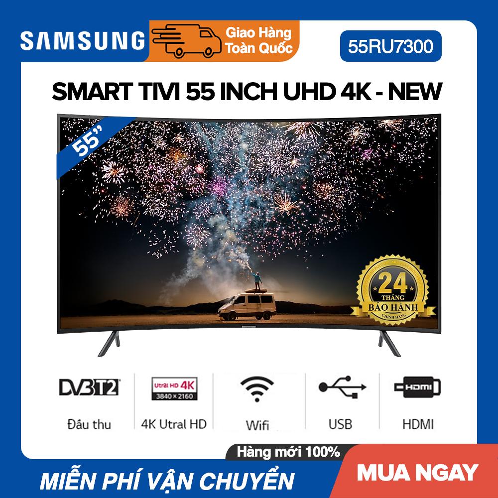 Bảng giá Smart Tivi Samsung 55 inch Màn Hình Cong UHD 4K - Model UA55RU7300 HLG, UHD Dimming, Youtube, Bluetooth - Bảo Hành 2 Năm
