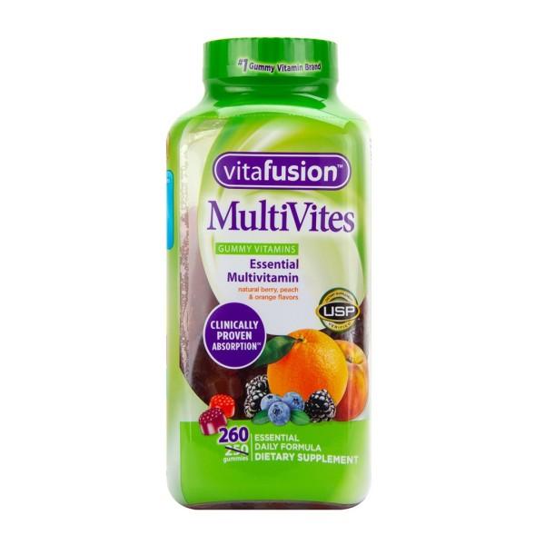 [ DATE T3,4,5 / 2021 ] Kẹo dẻo vị trái cây Vitafusion Multivites 260 viên nhập khẩu