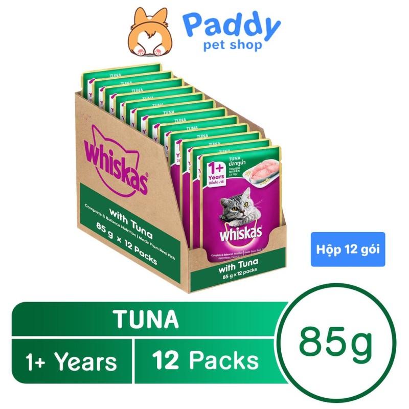 Pate Cho Mèo Lớn Whiskas Vị Cá Ngừ Gói 85g - Hộp 12 Gói