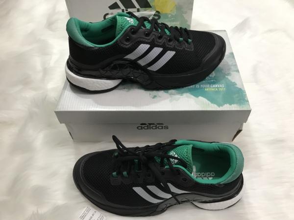[Lấy mã giảm thêm 30%] Giày Tennis Baricade Black-White Aq6295
