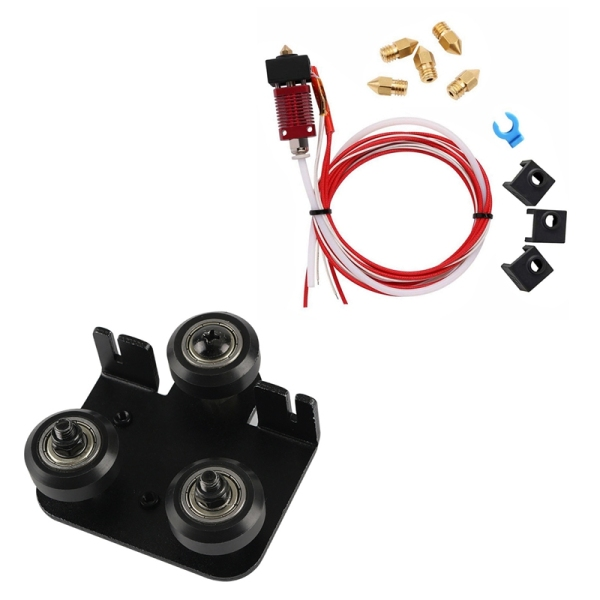 Bảng giá Mk10 Extruder Hot End Kit for Creality Cr-10 Cr-10S S4 S5 1.75mm Filament 0.4mm Nozzle & 3D Extruder Back Support Plate with Pulley Extruding Backplate for Ender 3 Ender Phong Vũ