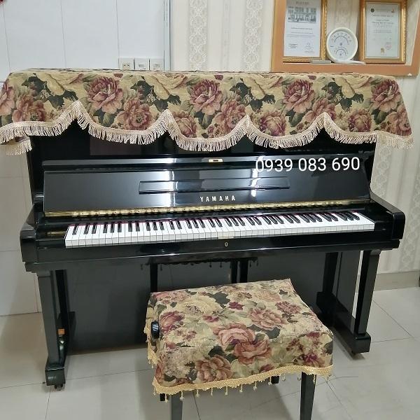 KHĂN PHỦ ĐÀN PIANO CƠ, HỌA TIẾT HOA CỔ ĐIỆN NHẬP KHẨU TỪ NHẬT