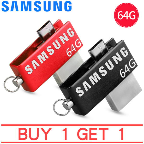 Giá [Mua 1 tặng 1]Sản Phẩm Mới Ổ Đĩa Flash SAMSUNG USB OTG USB 3.0 Ổ Đĩa Bút Mini 64GB Micro USB Stick