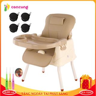 Ghế ăn dặm cao cấp đa chức năng có đệm kèm chân sắt và bánh xe tiện lợi cho mẹ và bé ( Bảo hành 1 năm lỗi 1 đổi 1 trong 7 ngày ) thumbnail