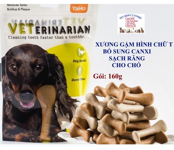 XƯƠNG GẶM CHO CHÓ THÚ CƯNG My dog Veterinarian Hình chữ T Gói 160g Mix vị Bổ sung canxi Sạch răng Thơm miệng Bỏ mảng bám