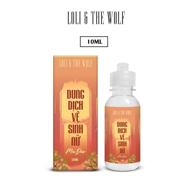 Dung dịch vệ sinh nữ mùi đào thơm mát thành phần tự nhiên chai 100ml - LOLI & THE WOLF giá rẻ