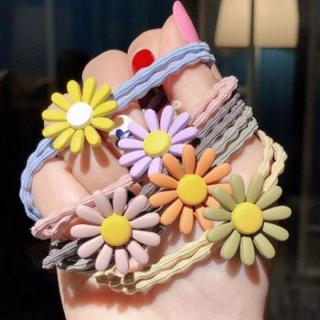 Dây cột tóc buộc tóc hoa cúc Hàn Quốc nhiều màu dễ thương giao ngẫu nhiên 1