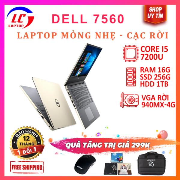 Bảng giá Laptop gaming Dell Inspiron 7560 core i5-7200U, màn 15.6inch fullhd ips, laptop viền mỏng chơi game đồ họa giá rẻ Phong Vũ