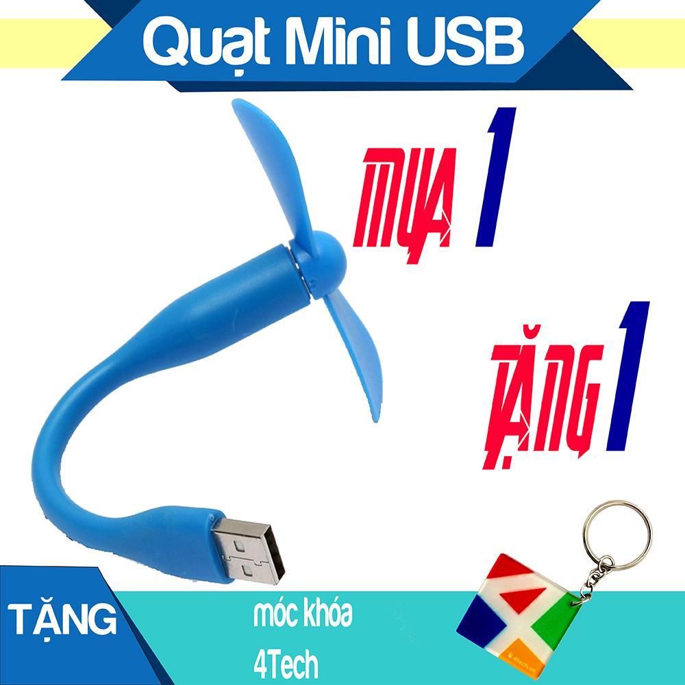 Quạt Mini 2 Cánh Dùng Nguồn USB, Sản Phẩm Tặng Kèm Cây Máy Tính Đồng Bộ HP