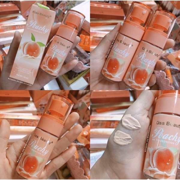 Kem Nền Bb Cream Hương Đào Peachy Kiss Beauty Made In Thái Lan