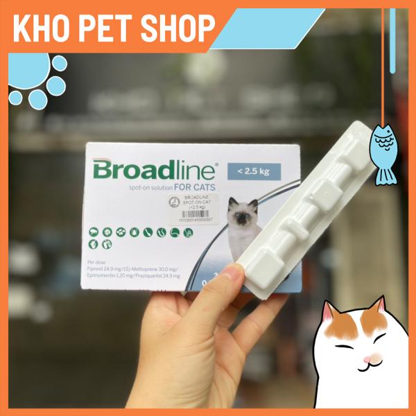 Nhỏ gáy Broadline phòng, loại trừ nội ngoại kí sinh trùng cho mèo dưới 2.5kg(1 tuýp)