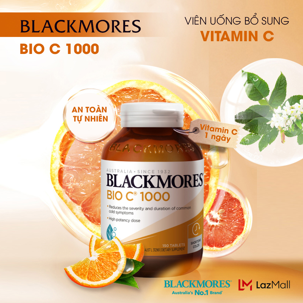 Blackmores Bio C 1000mg 150 Vvitamin c blackmore Úc viên uống bổ sung c tăng cường hệ miễn dịch