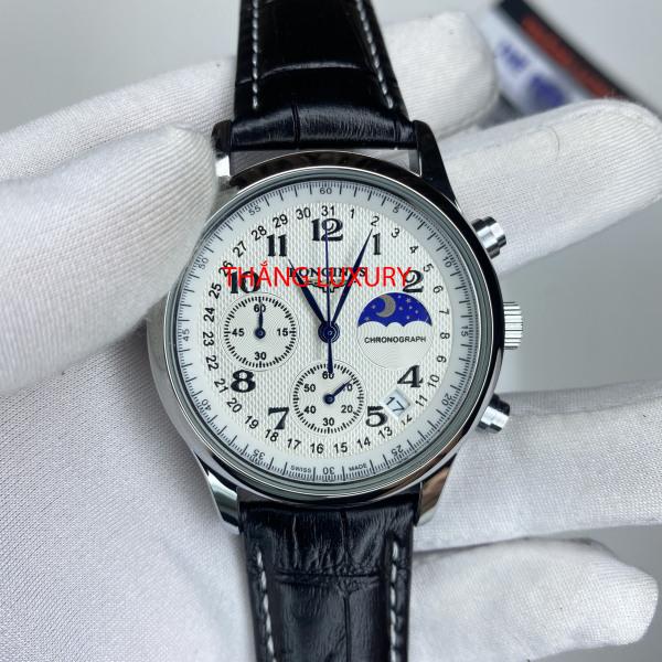 [Bấm giờ thể thao +  BH 12 tháng] Đồng hồ nam L.O.N.G.I.N.E - size 38, Pin 2-3 năm, dây cá sấu nguyên miếng bán chạy