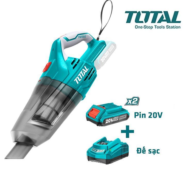 20V Máy hút bụi dùng pin Lithium Total TVLI2001-B1 ( Kèm theo 2 pin và 1 sạc )