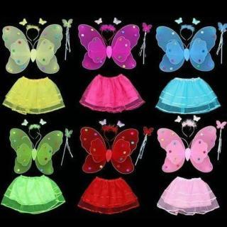 Bộ Cánh Tiên (Cánh Bướm) Trung Thu Kèm Váy Cho Bé thumbnail
