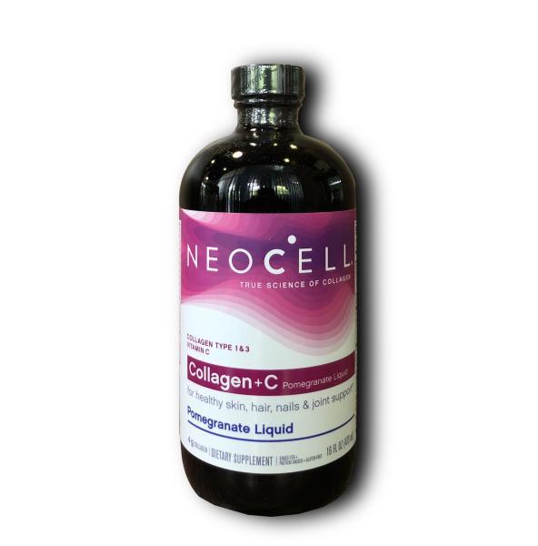 Neocell Collagen +C Pamegranate Liquid - Collagen lựu - Chai 473ml - DATE 4/2021