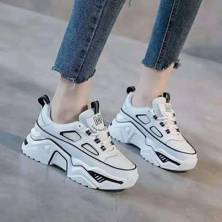 Giày thể thao viền phản quang đế cao êm chân Star fullbox mã C10 giày học sinh giá rẻ