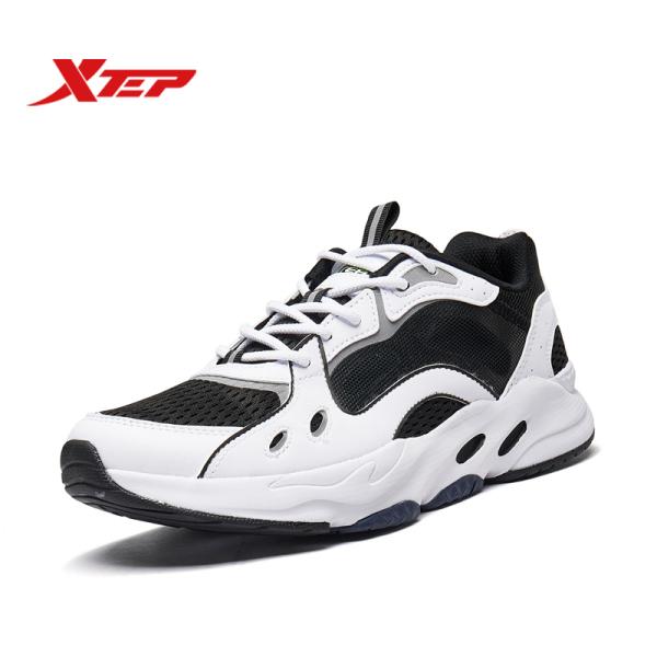 Xtep Retro Giày Thể Thao Nam Sneakers Nhẹ Lưới 980219320201