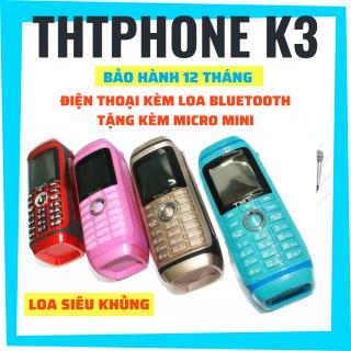 Điện thoại pin trâu THT Phone K3 Loa siêu khủng, tặng kèm micro mini hát karaoke thumbnail