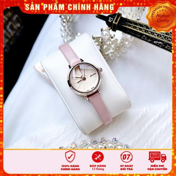 Đồng hồ nữ Julius Hàn Quốc JA-979C dây da cá tính (Hồng)