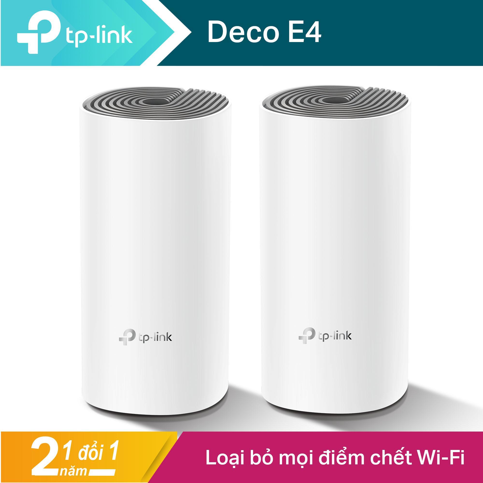 TP-Link Hệ thống WiFi Mesh Cho Gia Đình AC1200 cho độ phủ Wi-Fi tuyệt vời - Deco E4 - Hãng phân phối chính thức