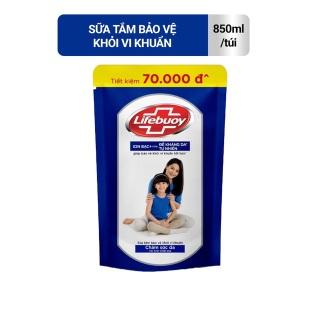 Sữa tắm Lifebuoy Bảo vệ khỏi vi khuẩn 850gr màu xanh (Túi) thumbnail