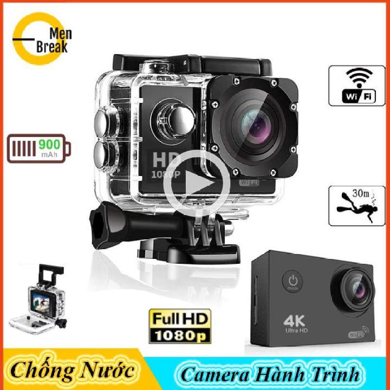 Camera hành trình chống nước SJ4000 Menbreak,camera hành trình xe máy mini chất lượng Full HD 1080p 3 màu đen-vàng-hồng