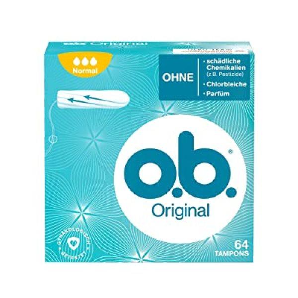 Tampon OB - Băng vệ sinh Tampon ob Normal Original 64st - Băng vệ sinh dạng nút - Nội địa Đức giá rẻ