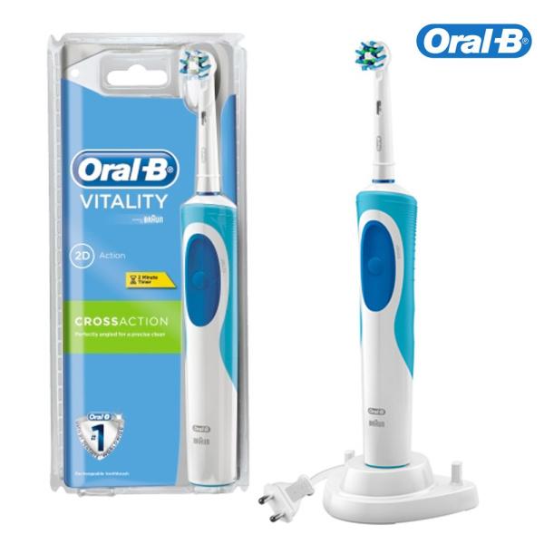 Bàn chải đánh răng điện Oral-B Vitality Plus 2 Đầu CrossAction -  Nhập khẩu Úc giá rẻ